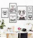 07G-Nordic-Black-And-White-Cartoon-Animal-Rabbit-Deer-Bear-A4-A3-Canvas-Art-Picture-Baby-2.jpg