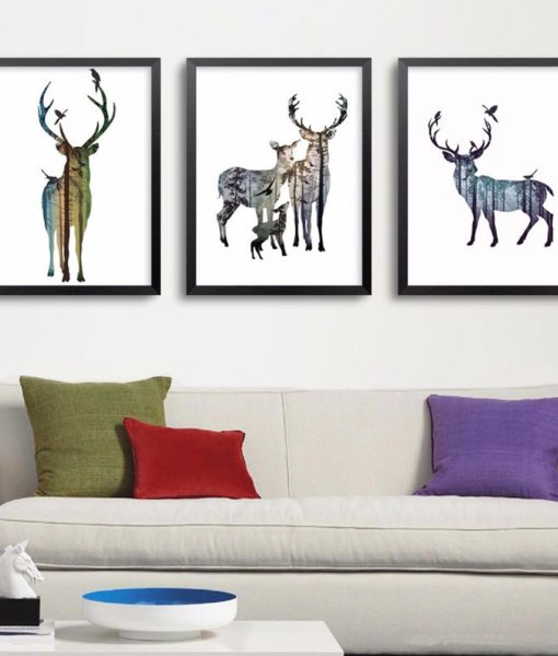 Animals Forest Wall Art Decor Picture