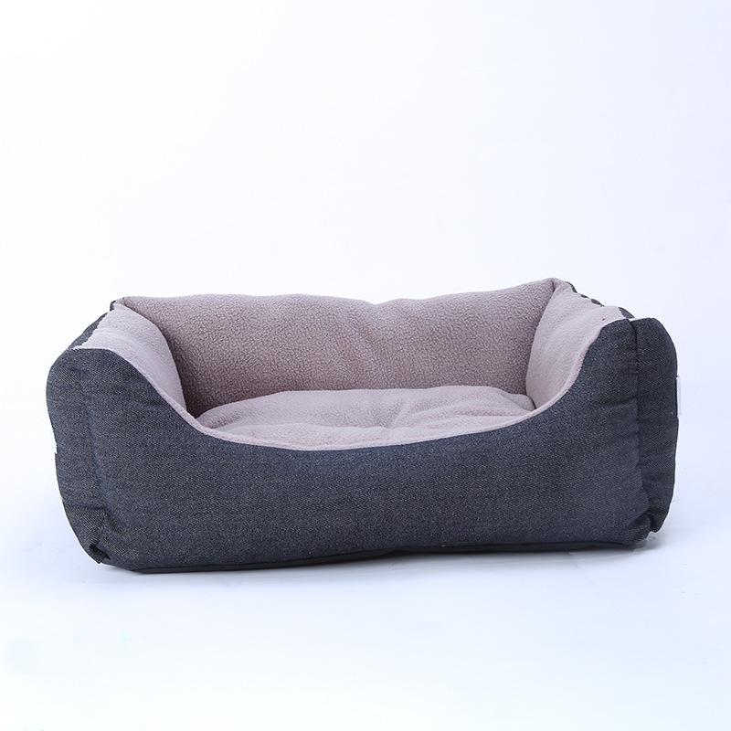 Denim Wash Dog Bed