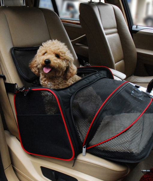 Luxurious Expandable Portable Pet Dog Car Travel Bag For Small Dogs ...