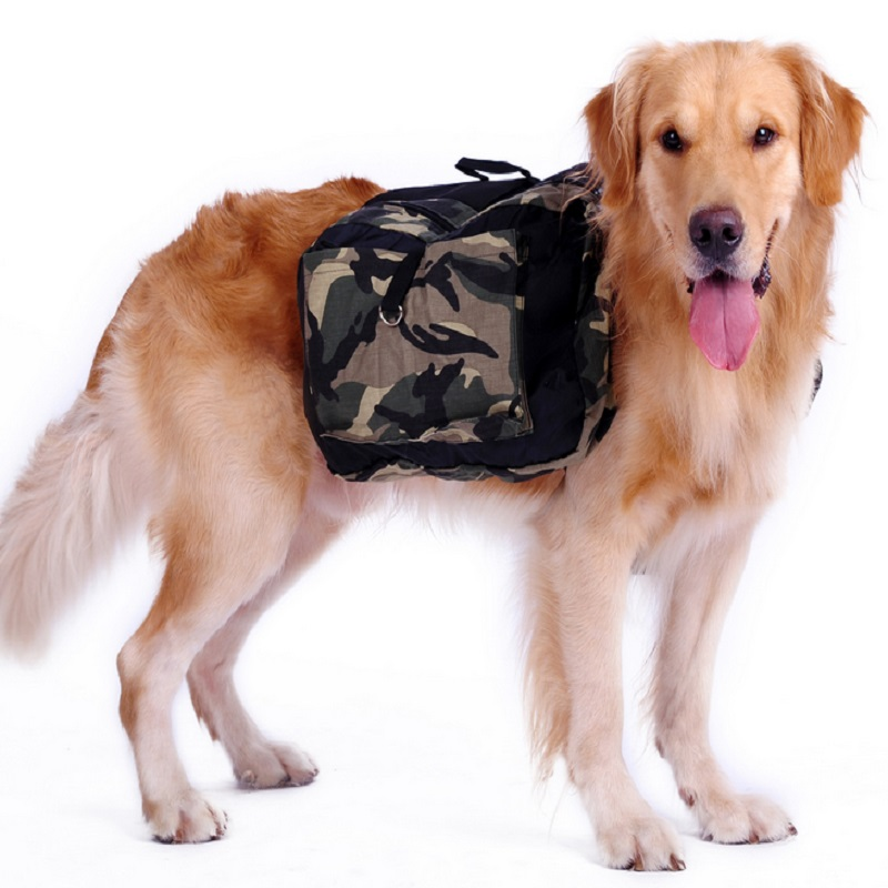Outdoor Large Dog Bag Carrier Backpack Saddle Bags