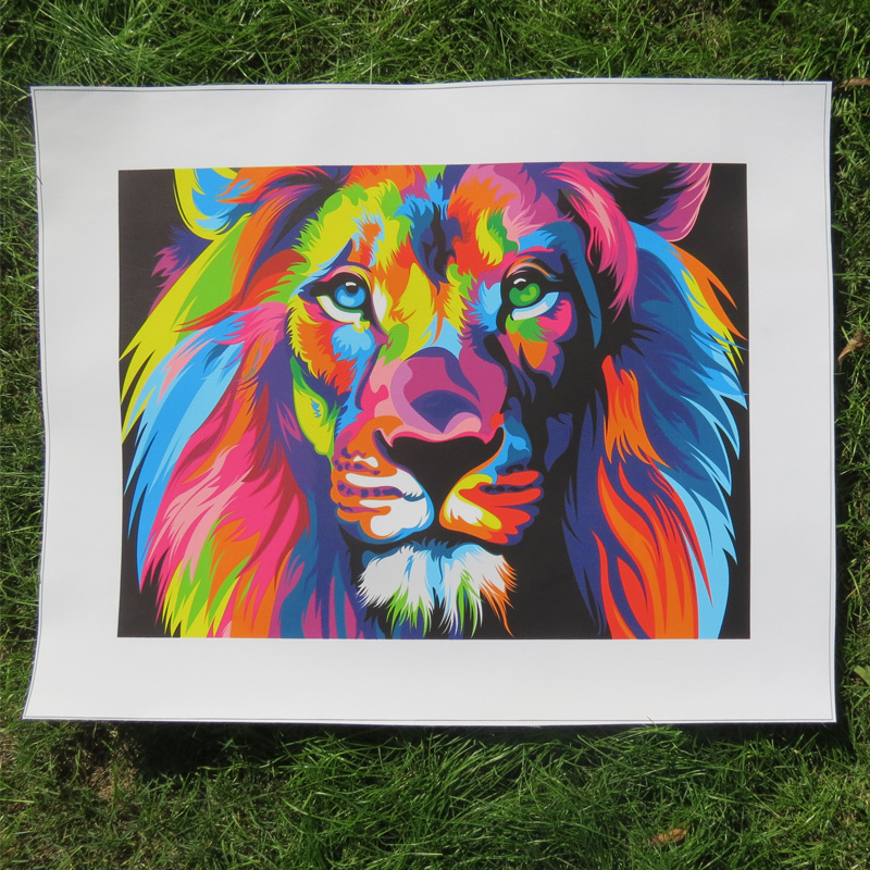 Abstract Lion Paintings On Canvas - Mafiamedia