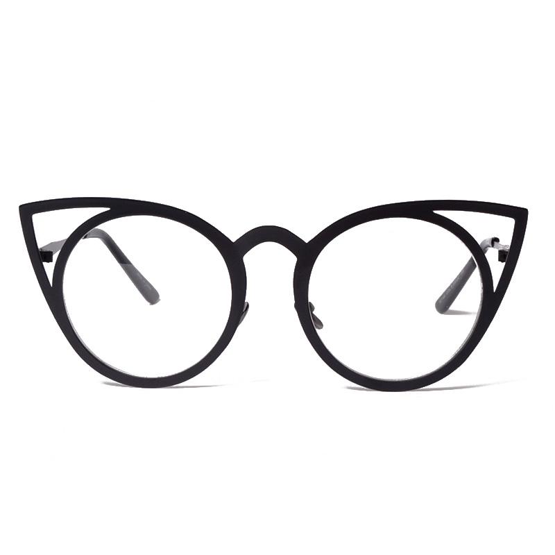 Women Sunglasses Vintage Cat Eye Sun glasses Metal Eyeglasses Frames ...