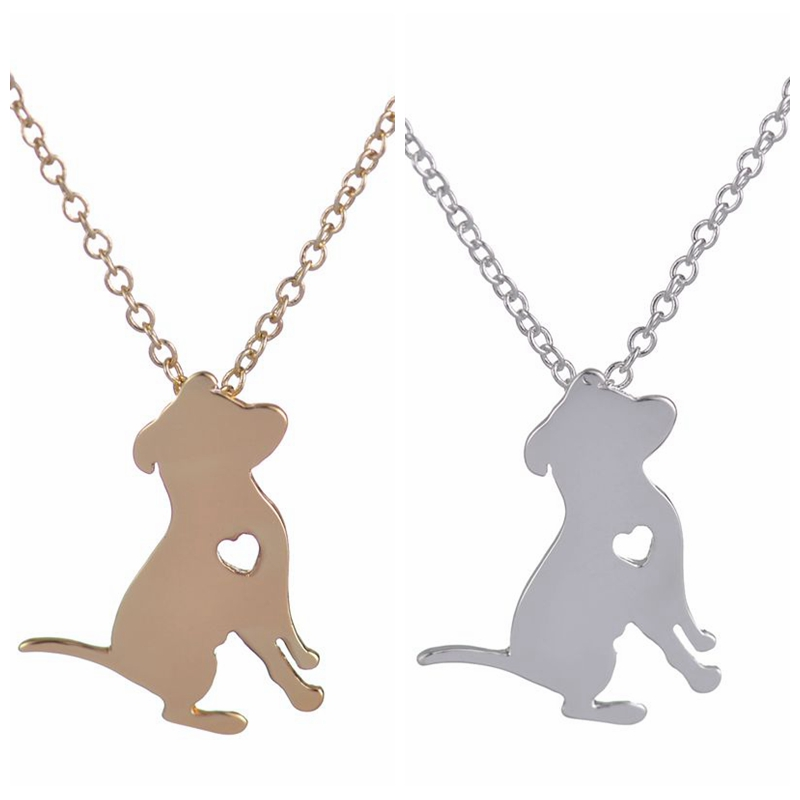 Shuangshuo pit bull necklace cartoon dog with heart pendant necklace shuangshuo cute pit bull choker necklace cartoon dog aloadofball Choice Image