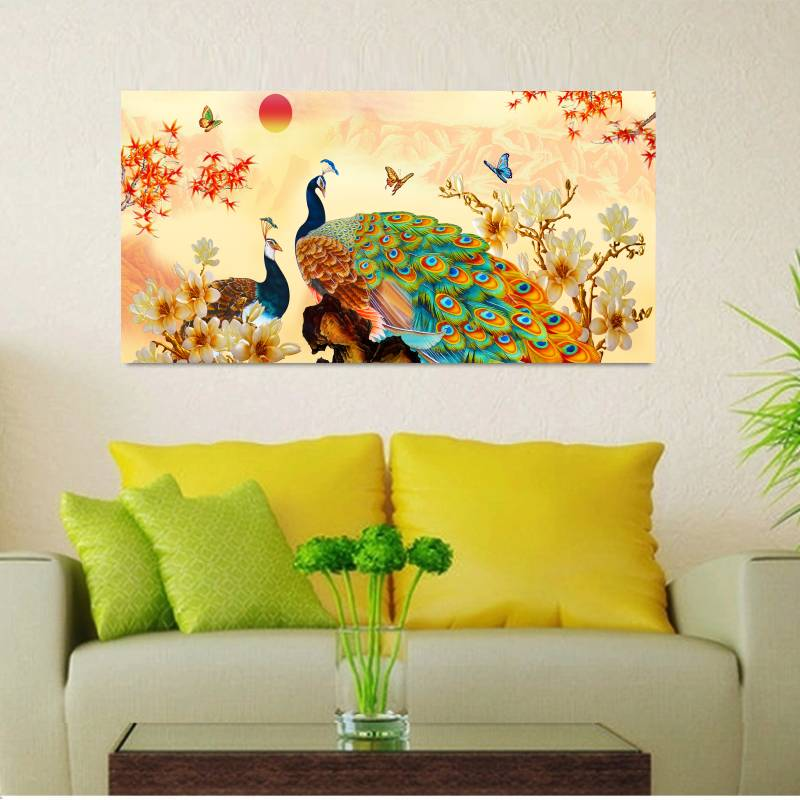 Traditional Chinese Beautiful Peacock Oil Painting Picture Cuadros ...