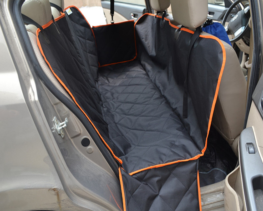 option regular black pin split rear hammock dogs seat car dog for cover